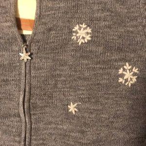 Coldwater Creek Sweaters - Grey winter zip front sweater.